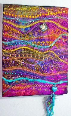 Embellished fabric.