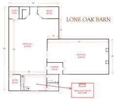 Floor Plan - Lone Oak Barn