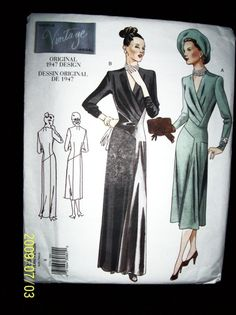 Vogue 2354 Vintage 1947 Reproduction  of an by TheSewingDen, $9.50