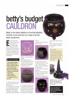 tutorial: mini cauldron from a yogurt container