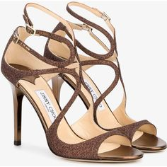 Jimmy Choo Paloma Lang Heeled Sandals (5825 MAD) ❤ liked on Polyvore featuring shoes, sandals, ankle strap shoes, strappy heeled sandals, brown strappy sandals, leather strap sandals and ankle strap stilettos #brownsandalsheels #jimmychooheelsstrappy