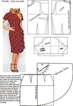 New sewing clothes diy dress free pattern ideas Skirt Patterns Sewing, Sewing Patterns Free, Clothing Patterns, Free Pattern, Pattern Sewing, Pattern Ideas, Fashion Sewing, Diy Fashion, Sewing Clothes