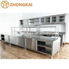Full Stainless Steel Modular Kitchen Furniture Commercial Kitchen Cabinet