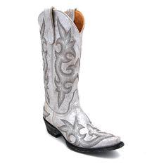 "Old Gringo 13"" Diego Nacar Silver Boot at Maverick Western Wear"