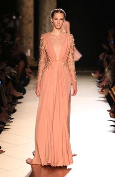 Sexy deep plunge @Elie SaabSaab Fall 12-13 Couture