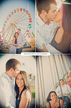 Love at the County Fair. This would be so cute for an engagement picture to send to family ! Like a save the date!