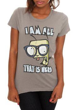 Invader Zim Gir All That Is Nerd Girls T-Shirt