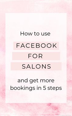 Facebook Ads Manager, Facebook Business, Business Pages, Business Ideas, Salon Promotions, Coaching, Salon Quotes, Salon Business, How To Use Facebook