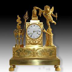 Pendule Empire - Amour couronnant l'Amitié - 1815