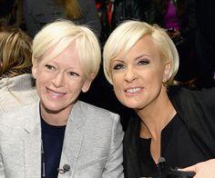 Gorgeous Hairstyles for Older Women: Joanna Coles; Mika Brzezinski