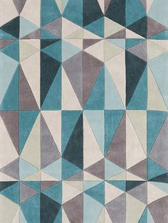 Shop Surya Cosmopolitan Teal Blue Area Rug at Lowe's Canada. Find our selection of area rugs at the lowest price guaranteed with price match. Geometric Patterns, Geometric Rug, Textures Patterns, Maori Patterns, Parchment Design, Tapis Design, Quilt Design, Fractal, Hand Tufted Rugs