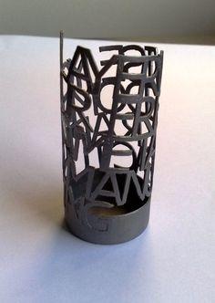 3D printed design made of metal.