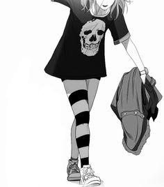 Hi my name is Maya and I love anime and manga! Oc Manga, Chica Anime Manga, Manga Girl, Kawaii Anime, Anime Art, Amane Misa, Gothic Anime, Jolie Photo, Dark Anime