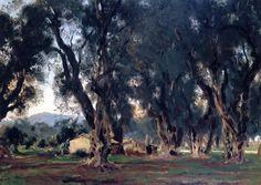 Olive Trees at Corfu, 1909 John Singer Sargent