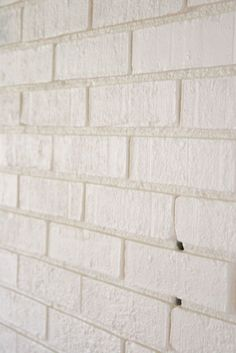 How to paint brick.