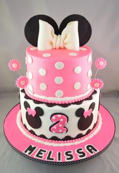 Pink Minnie Mouse Cake, it even has my name on it!