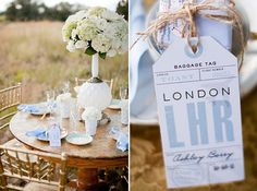 25 Travel Themed Wedding or Party Ideas via Brit + Co.