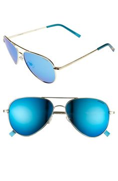 Main Image - Polaroid Eyewear 56mm Polarized Aviator Sunglasses
