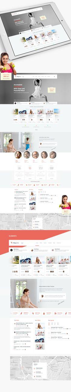 Piourette Dancer Studio Web Design on Behance