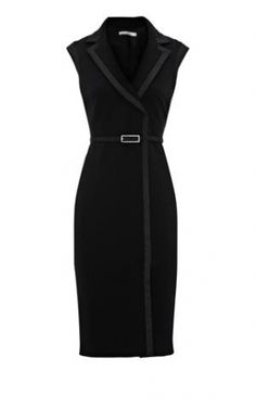 Karen Millen Contrast Trim Pencil Dress