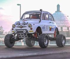 Fiat 500, Fiat Cinquecento, Fiat Abarth, Weird Cars, Cool Cars, Fiat Cars, Lifted Cars, Car Tuning, Car Wheels