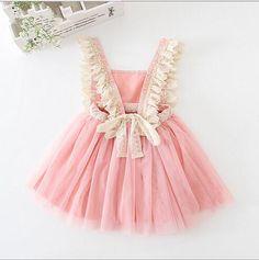 Pink Scarlett's Ruffle Girl and Toddler Dress, girl Birthday Dress, Girl Pink Dress, Baby Girl Boutique Clothing Girls Easter Dresses, Dresses Kids Girl, Kids Outfits, Flower Girl Dresses, Dress Girl, Children Dress, Girl Tutu, Crochet Lace Dress, Dress Lace