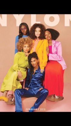 NYLON magazine creates historic Black History Month cover with 5 emerging Black models. Issue also boasts all Black female creative team. Nylons, Photoshoot Inspiration, Mode Inspiration, Fashion Inspiration, Black Girl Magic, Black Girls, Black Women, Black Is Beautiful, Beautiful People