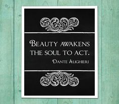 Wall Art quote Dante Alighieri Beauty by DivineGiveArt on Etsy