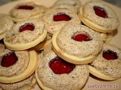 recipe for fine biscuits with jam and walnut snow. They are as sacred . A recipe for fine biscuits with jam and walnut snow. They are as sacred .,A recipe for fine biscuits with jam and walnut snow. They are as sacred . Biscuits, Cookie Recipes, Dessert Recipes, Food Cakes, Fall Desserts, Ice Cream Recipes, Christmas Cookies, Christmas Truffles, Crockpot Recipes