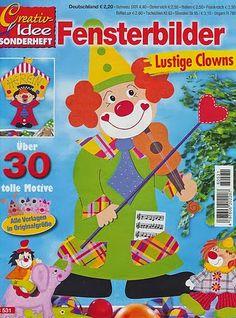 Fensterbilder Lustige Clowns 1 - Neus Cortiella - Picasa Webalbumok