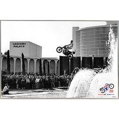 USA Evel Knievel Caesars Palace Jump 36x24 Poster with Metal Frame I