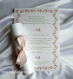 """Приглашение-свиток """"Тюльпаны"""" #invinanions #wedding"""