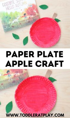 Fun, paper plate craft for Fall! #fallcrafts #paperplatecrafts #applecraft