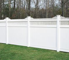 vinyl white fencing | Vinyl Fences - Chesterfield with Huntington Accent Vinyl Fencing ...