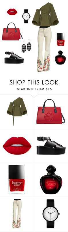 брюки клеш by malishevan on Polyvore featuring мода, Rosie Assoulin, Alice + Olivia, Alexander Wang, Gucci and Lime Crime
