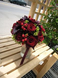 Red Wedding Flowers Wedding Flowers Photos on WeddingWire