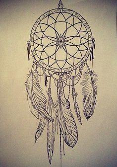 Voici une illustration à reproduire au Zendoodle: un joli capteur de rêve!