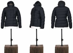 WOOL/ WAXED COTTON DOWN JACKET