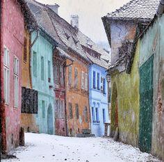 Romania in the winter.