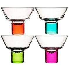 Sagaform Club Martini Glasses - colourful cocktail glasses