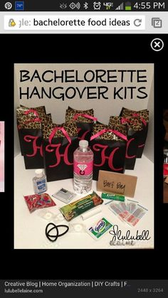 Great bachelorette party gift idea! Just replace the Advil with Restore & Renew from Hangover Lab! #Party Ideas| http://partyideas.hana.lemoncoin.org