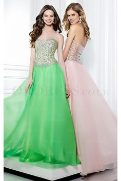 Discounted Long Natural Sweetheart Backless Prom Dresses - by OKDress UK