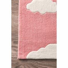 Viv + Rae Lily Cloudy Sachiko Hand-Tufted Pink Area Rug & Reviews | Wayfair Kids Area Rugs, Orange Rugs, Contemporary Area Rugs, Latex Free, Mild Soap, All Modern, Rug Size, Colorful Backgrounds, Whimsical
