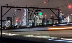 A view of the City of London, by a commuter who missed the train 'again'.