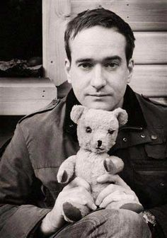 Having a bad day?  Here's Matthew MacFadyen with a teddy bear.  You're welcome.