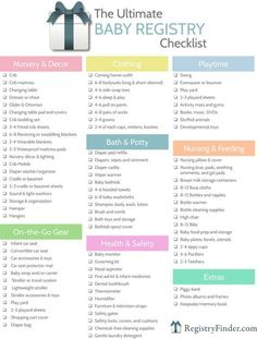 For your convenience, RegistryFinder.com has created a printable baby registry checklist to help you in your planning process.