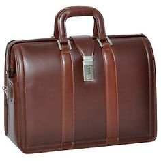 "McKleinUSA Morgan 17"" Leather Laptop Case at HSN.com"