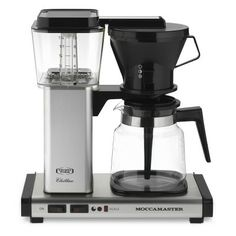 Technivorm Moccamaster Coffee Maker with Glass Carafe, Brushed Silver #WilliamsSonoma
