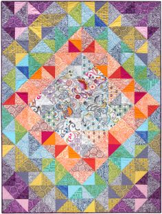 Journey quilt, made with Quill and Blueprint Textiles. Designed by Valori Wells, this pattern is FREE from Robert Kaufman Fabrics.