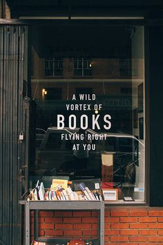 A vortex of books flying right at you.